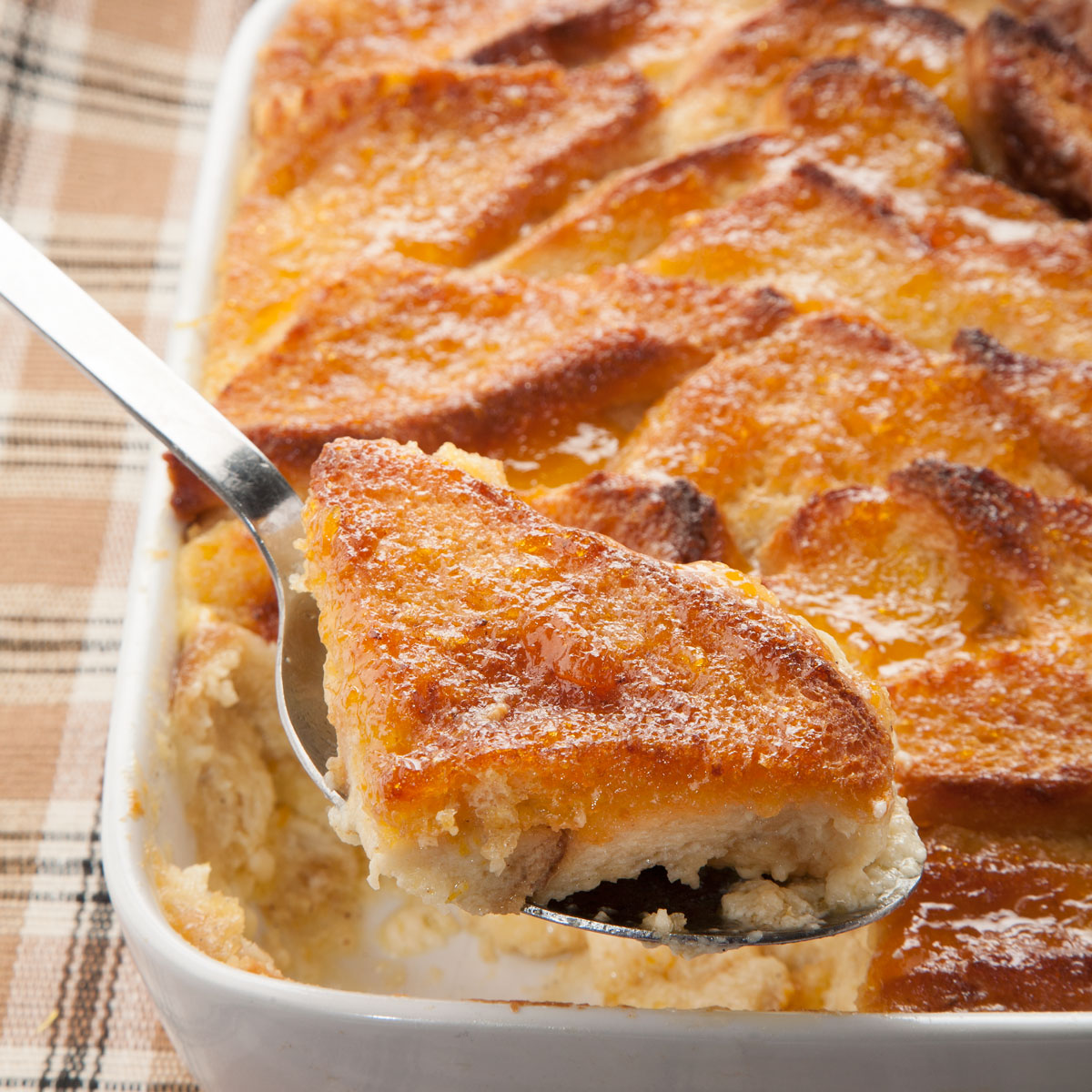 Bread and butter pudding - home cooked food delivered.